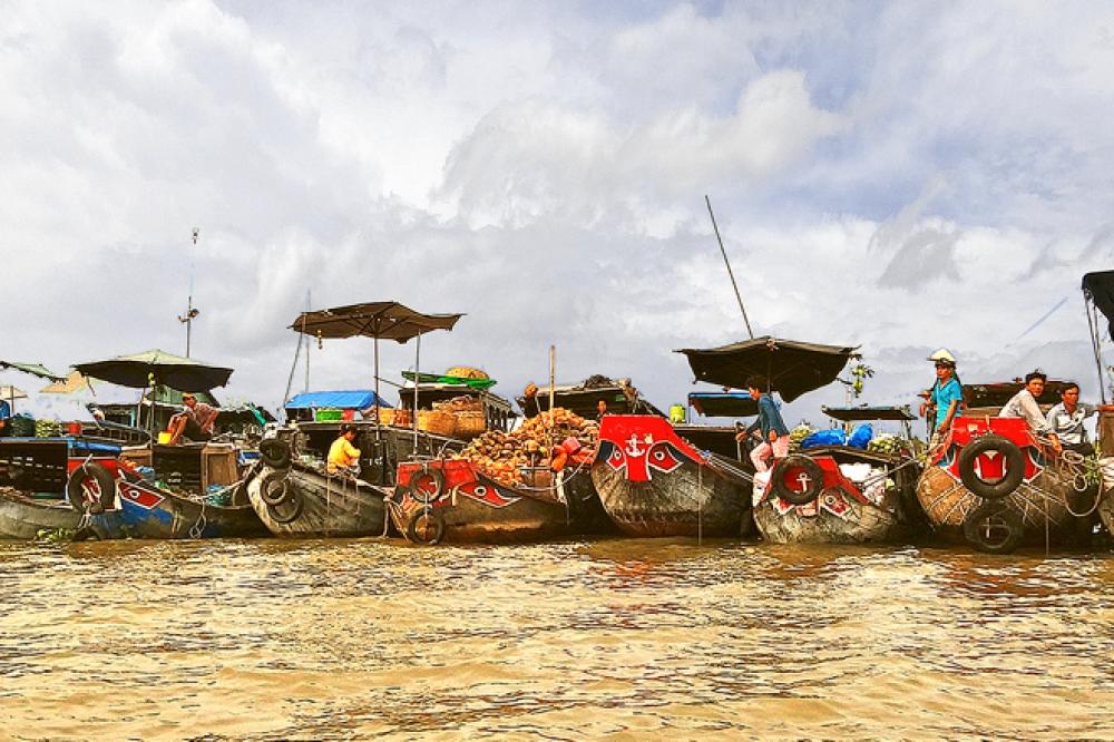 Vietnam - Croisière sur le Mékong et marché flottant depuis Hô Chi Minh