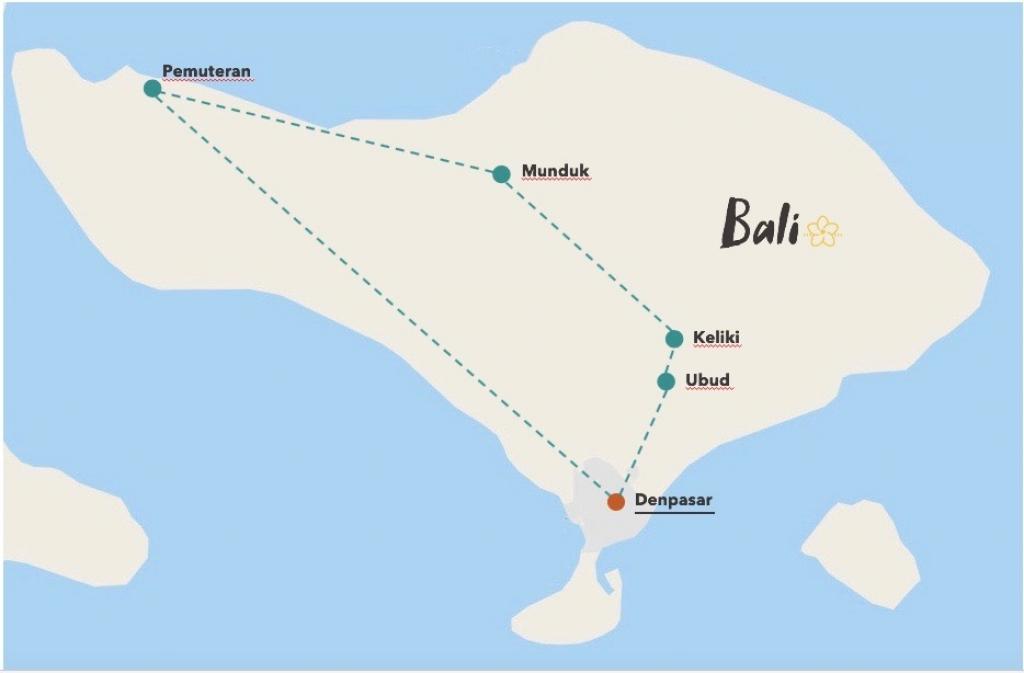 circuit pour circuit durable à Bali