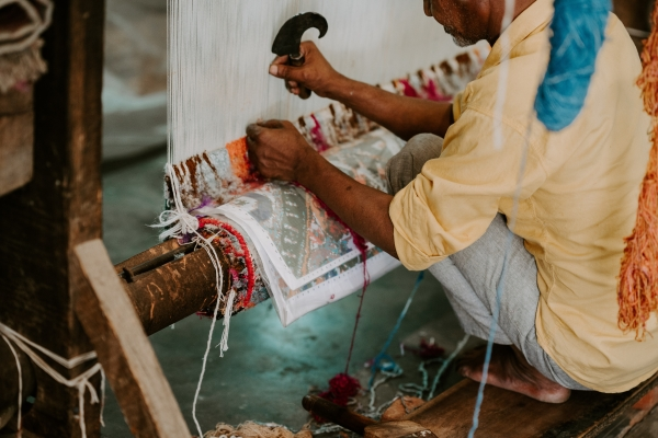 tissage de la soie en Inde