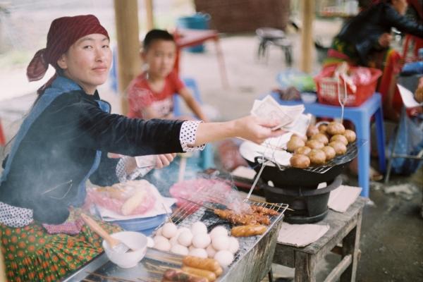stand de street food au Vietnam