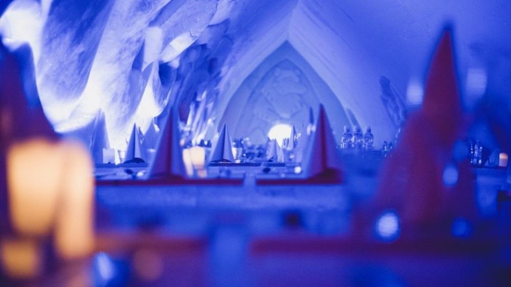 Rovaniemi: Arctic Snow Castle With Dinner in Ice Restaurant