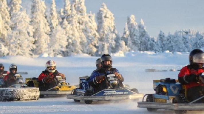Rovaniemi: Ice Karting Race Experience