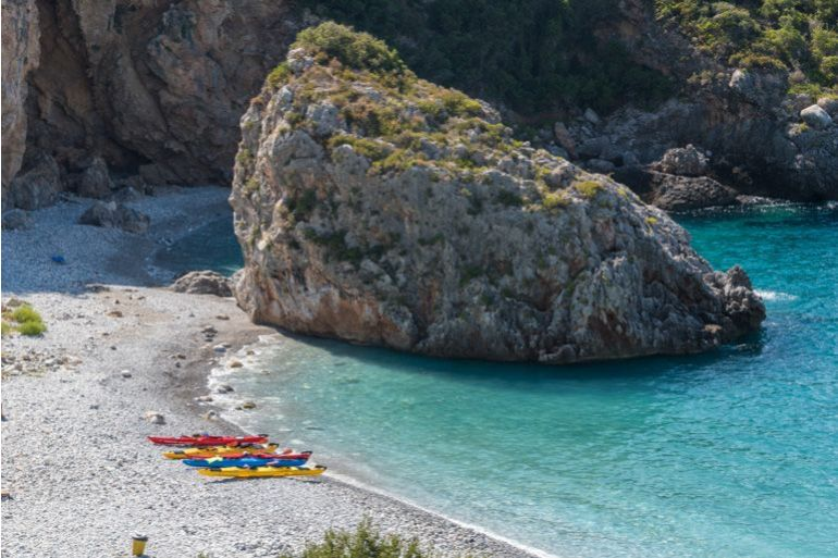Kalamata Kayaking: 4-hour Sea Kayaking Tour from Kardamyli Near Kalamata