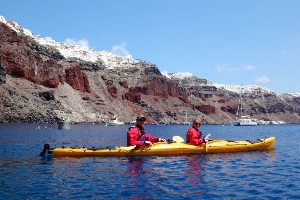 Kayaking in Santorini:  3-hour Sea Kayak Tour around the Caldera