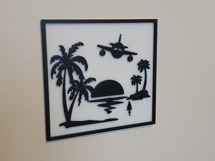 le tableau des îles (port compris)