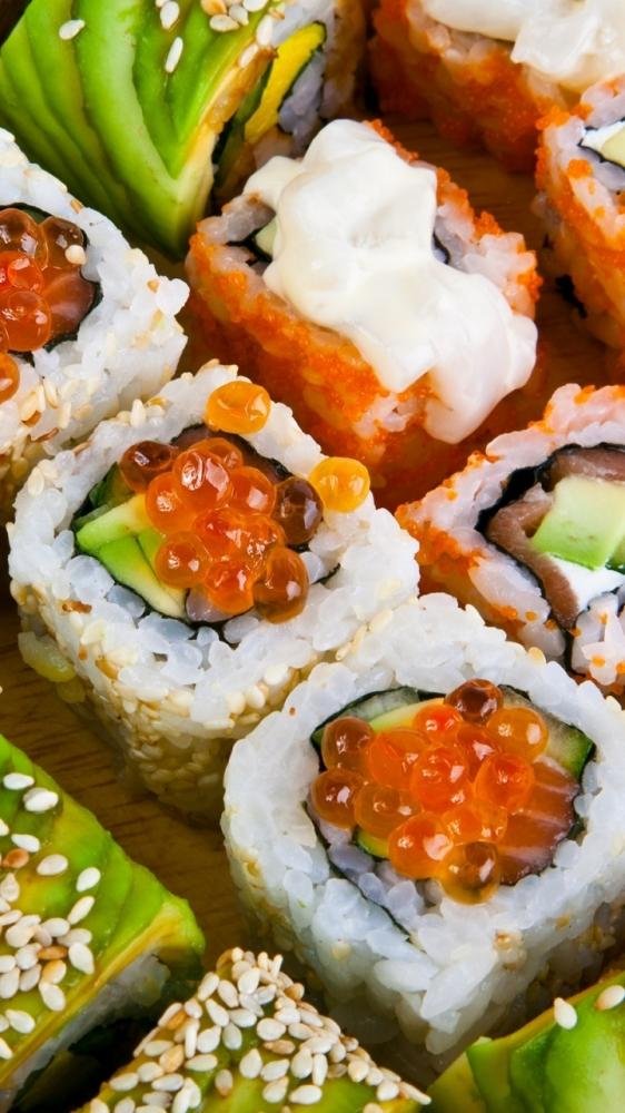 Atelier makis, sushis et california rolls