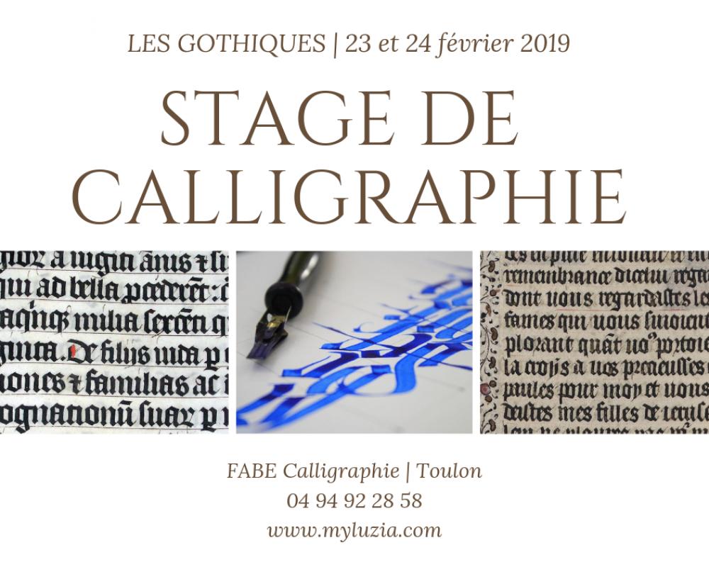 Stage de calligraphie - Les Gothiques