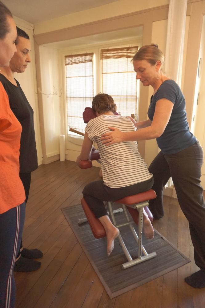 Formation Massage sur chaise 10/01/2019