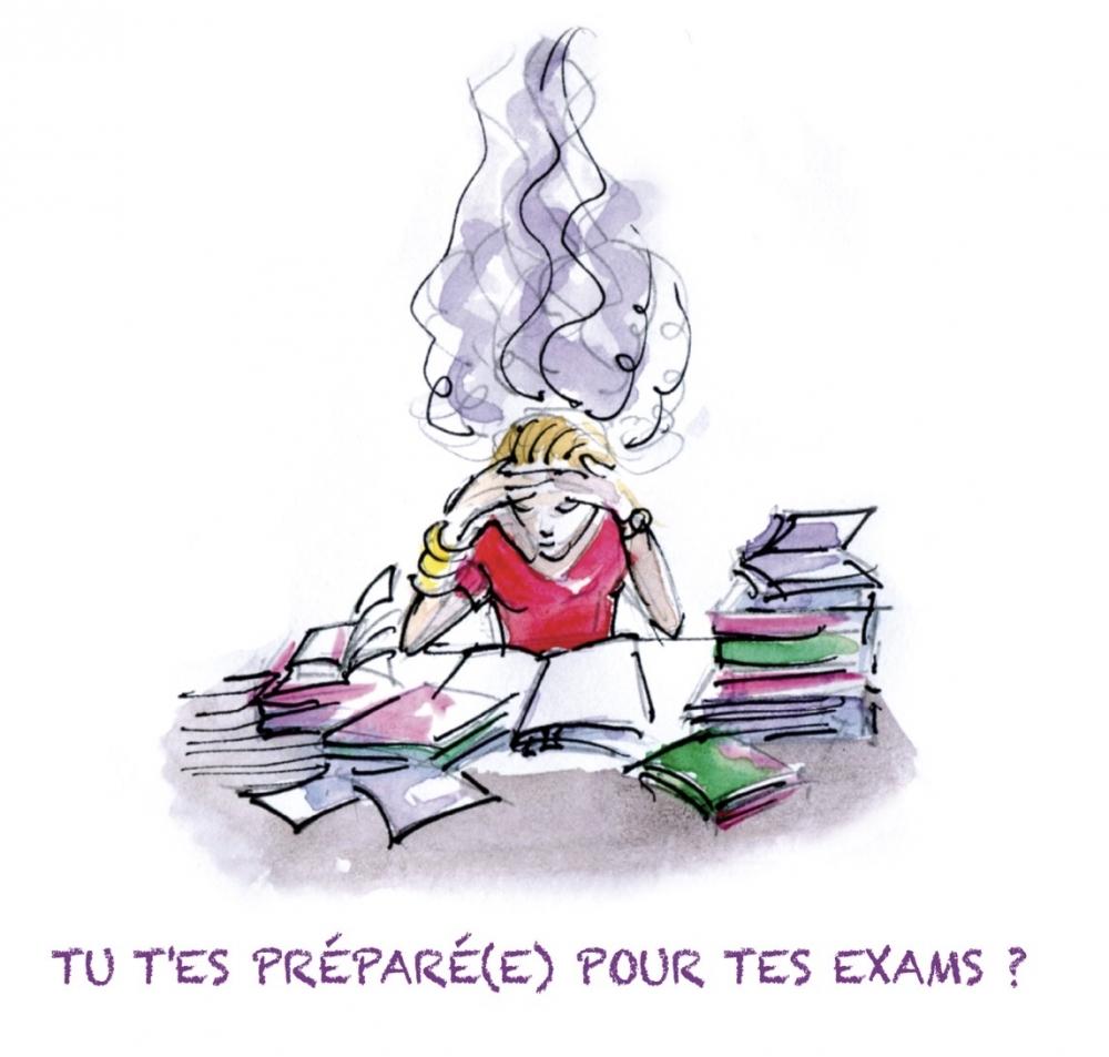 Tu t'es préparé pour tes exams ?