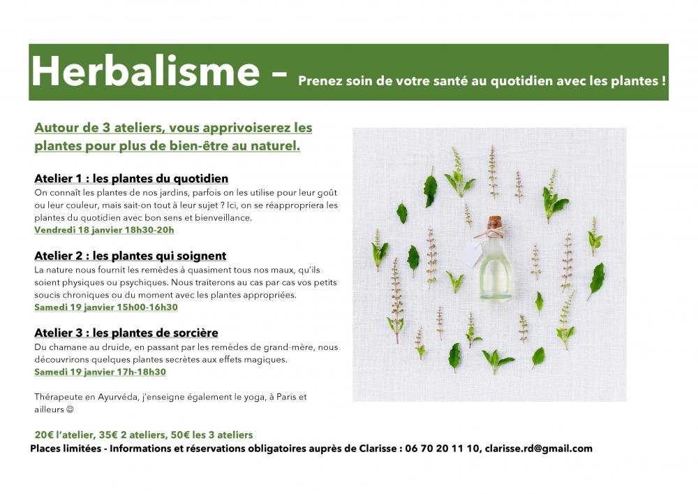 HERBALISME les plantes de sorcière - 19/01/19