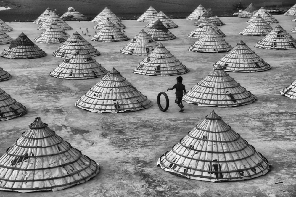 Bangladesh Remote Drone Shoot: Rice drying fields