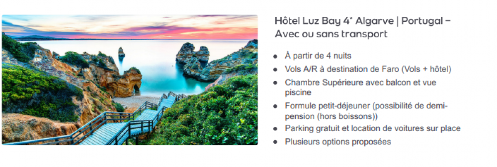 Hôtel Luz Bay 4* Algarve | Portugal – Avec transport