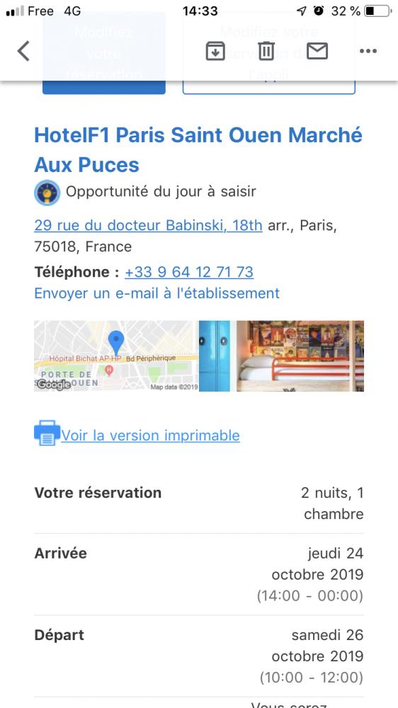 HotelF1 Paris Saint Ouen Marché Aux Puces