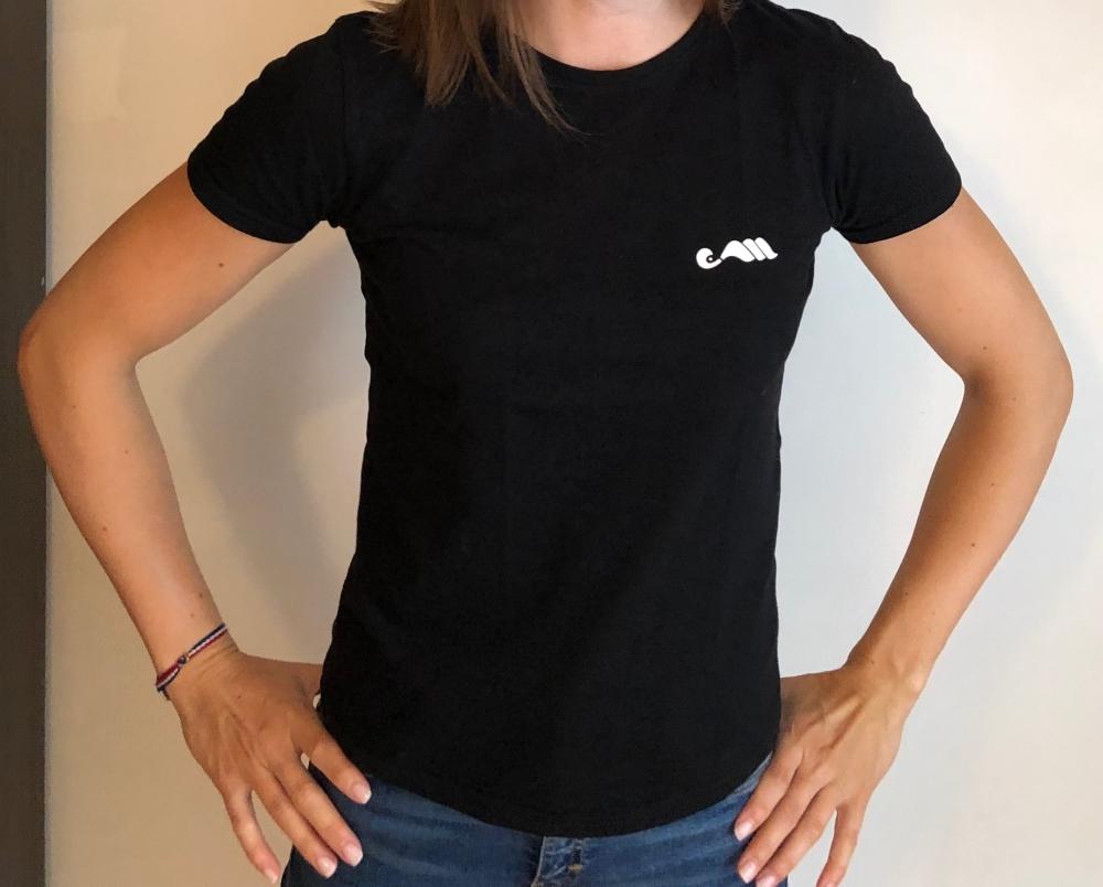 T-shirt noir France Moreau
