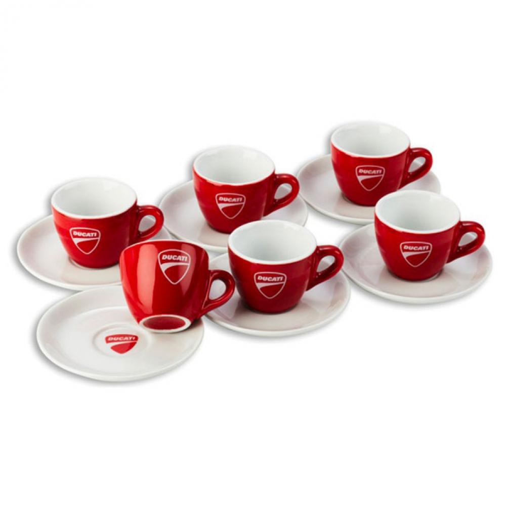 6 Tasses à café DUCATI