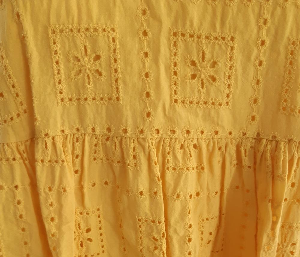 """Robe/tunique \""""Oriane\"""" jaune"""