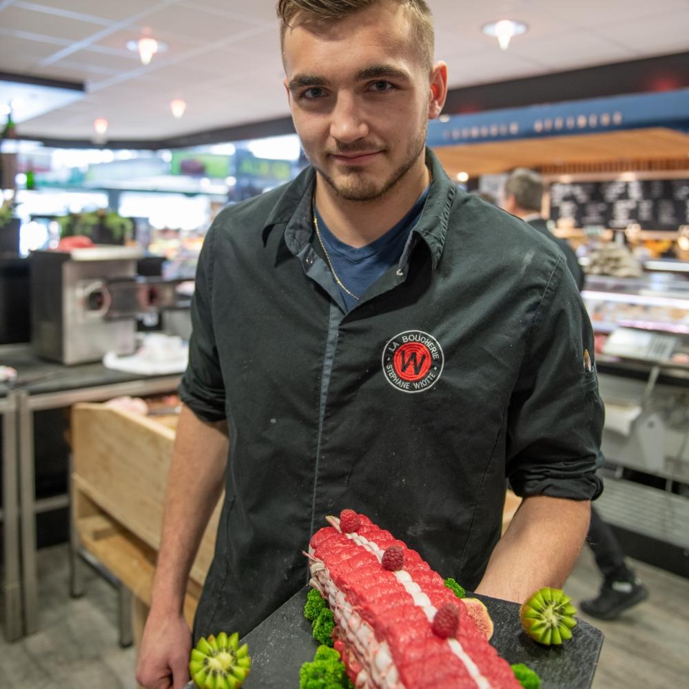 Rôti de boeuf coeur de rumsteck en Aubrac Label rouge (1kg)