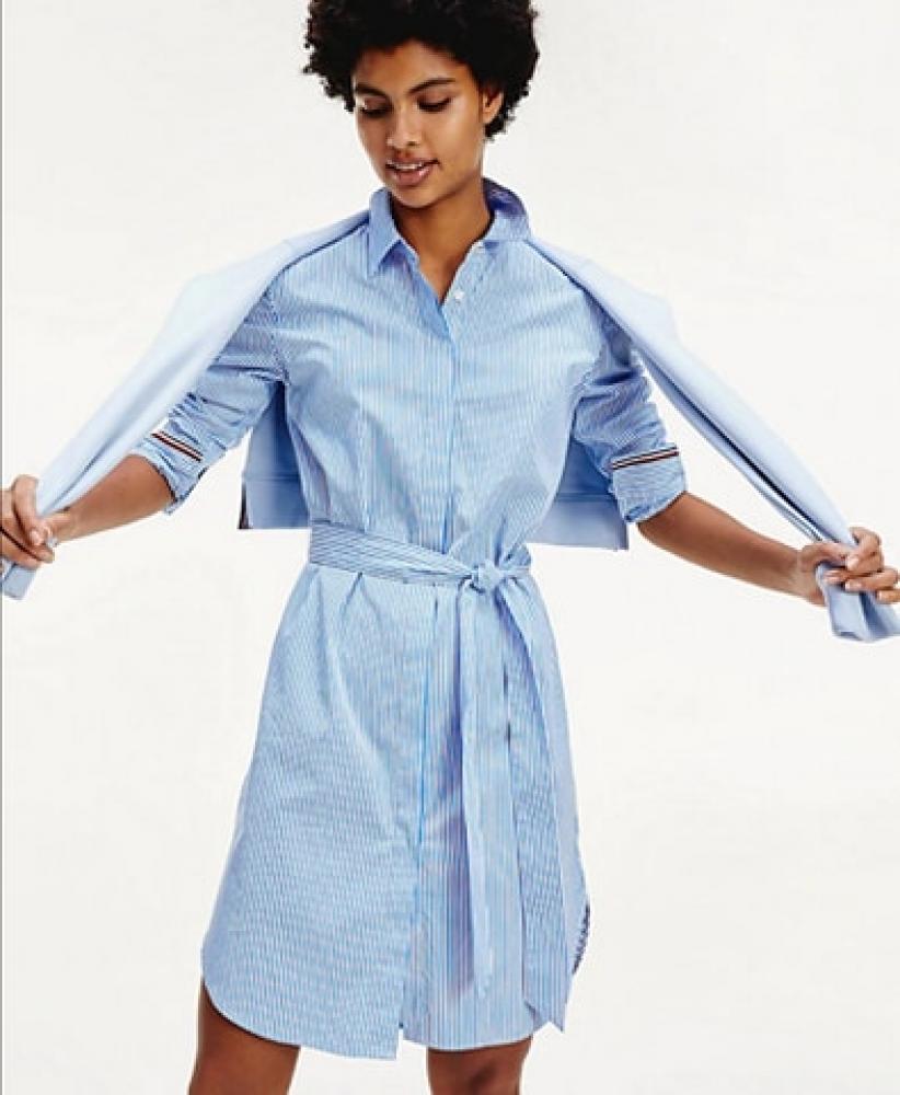 Robe chemise Essential rayée TOMMY HILFIGER