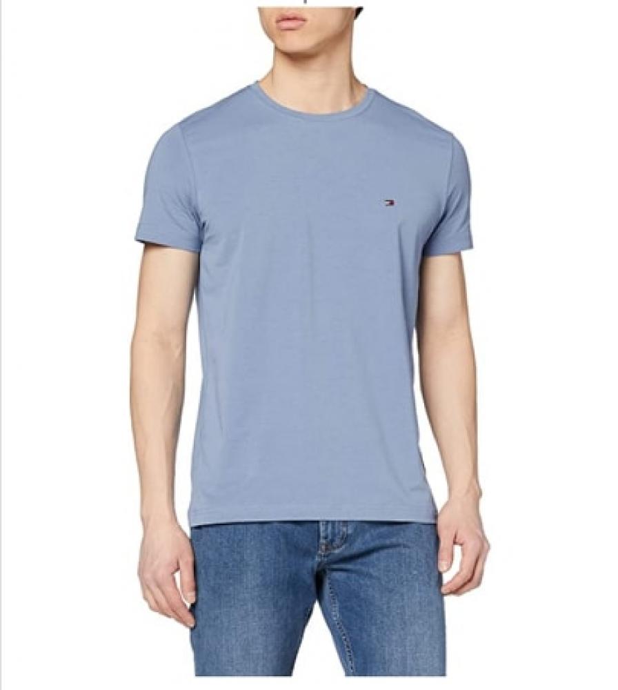 T-shirt ajusté en coton bio stretch TOMMY HILFIGER
