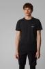 T-shirt en jersey de coton à logo incurvé noir HUGO BOSS