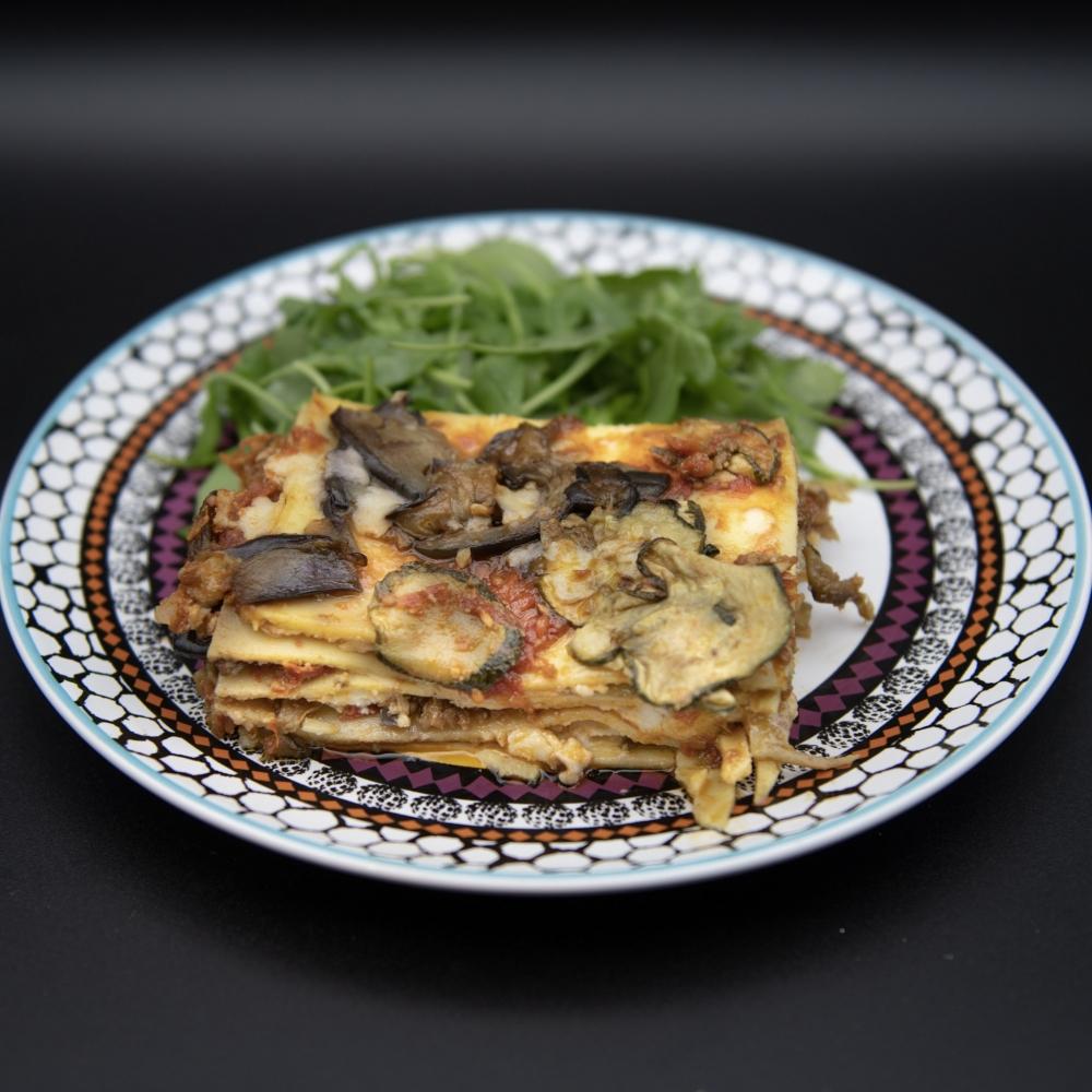 Lasagne burrata et légumes confits