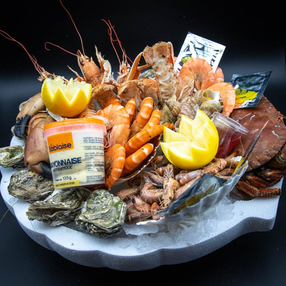 Plateau de fruits de mer de la maison Dupuis (prix par personne)