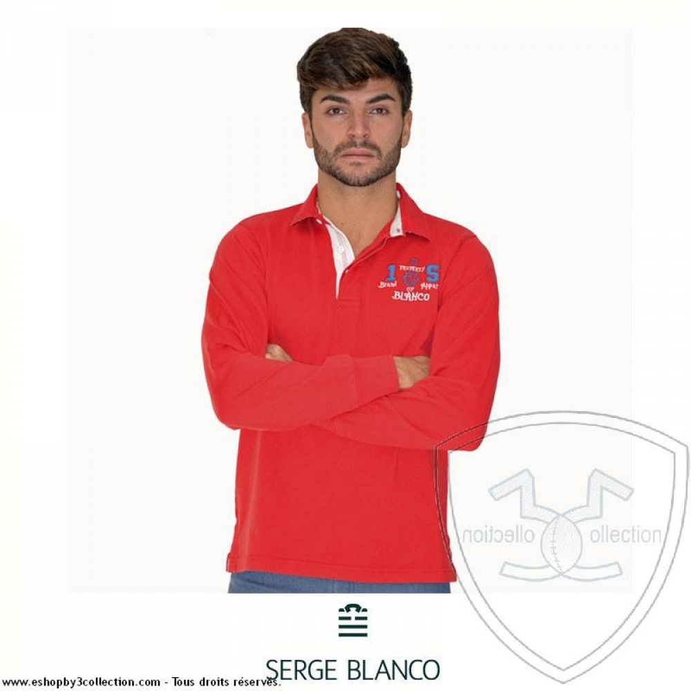 Polo rouge SERGE BLANCO
