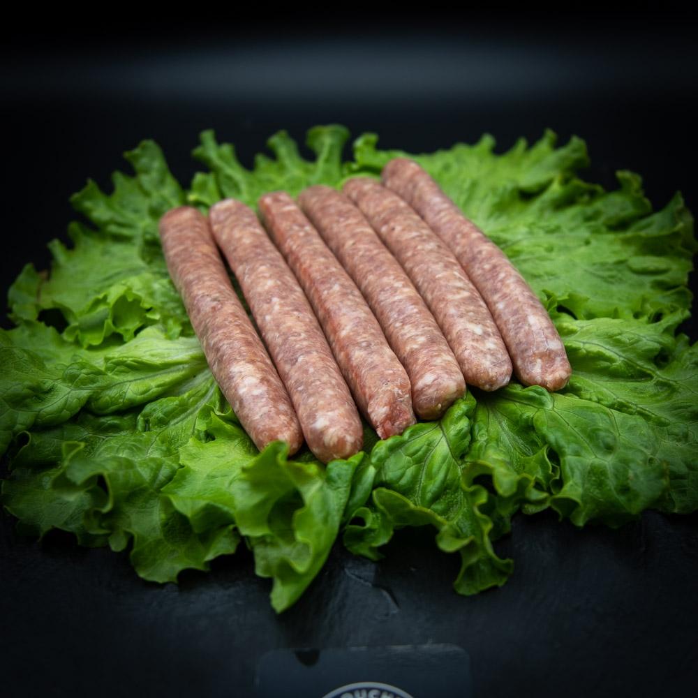 6 chipolatas nature de porc du Cantal