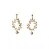 Boucles d'oreilles perles roses Muse
