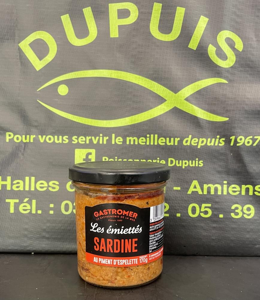 Les émiettés de sardines au piment d'Espelette