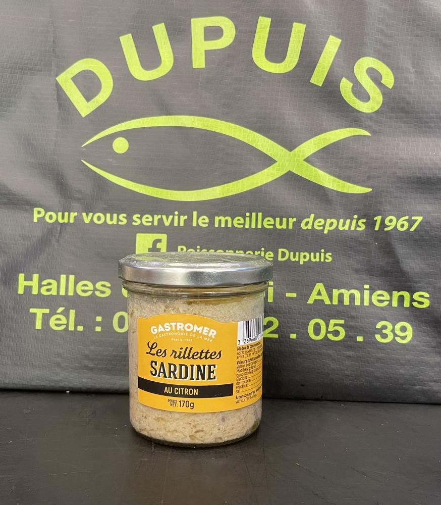 Les rillettes de sardines au citron