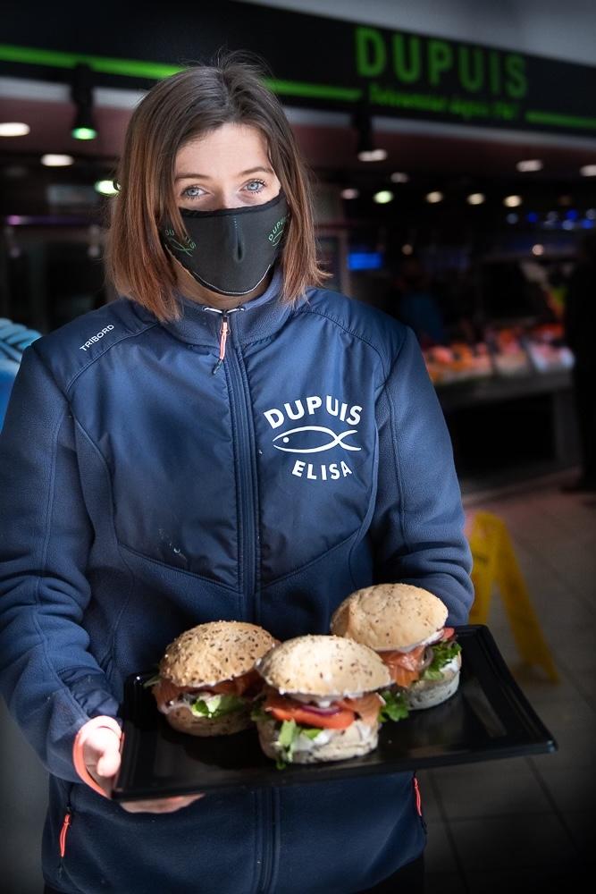 Burger au saumon fumés