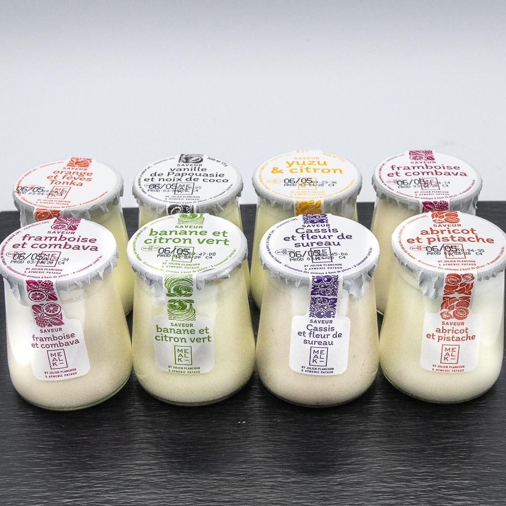 Lot de 8 Yaourts aromatisés aux fruits Mealk