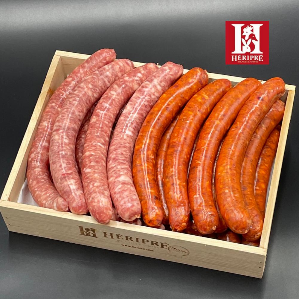 Colis Barbecue : 1kg Chipo de Porc│1kg de Merguez Boeuf-mouton