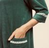 CANAT Terry robe de chambre fermeture éclair en coton