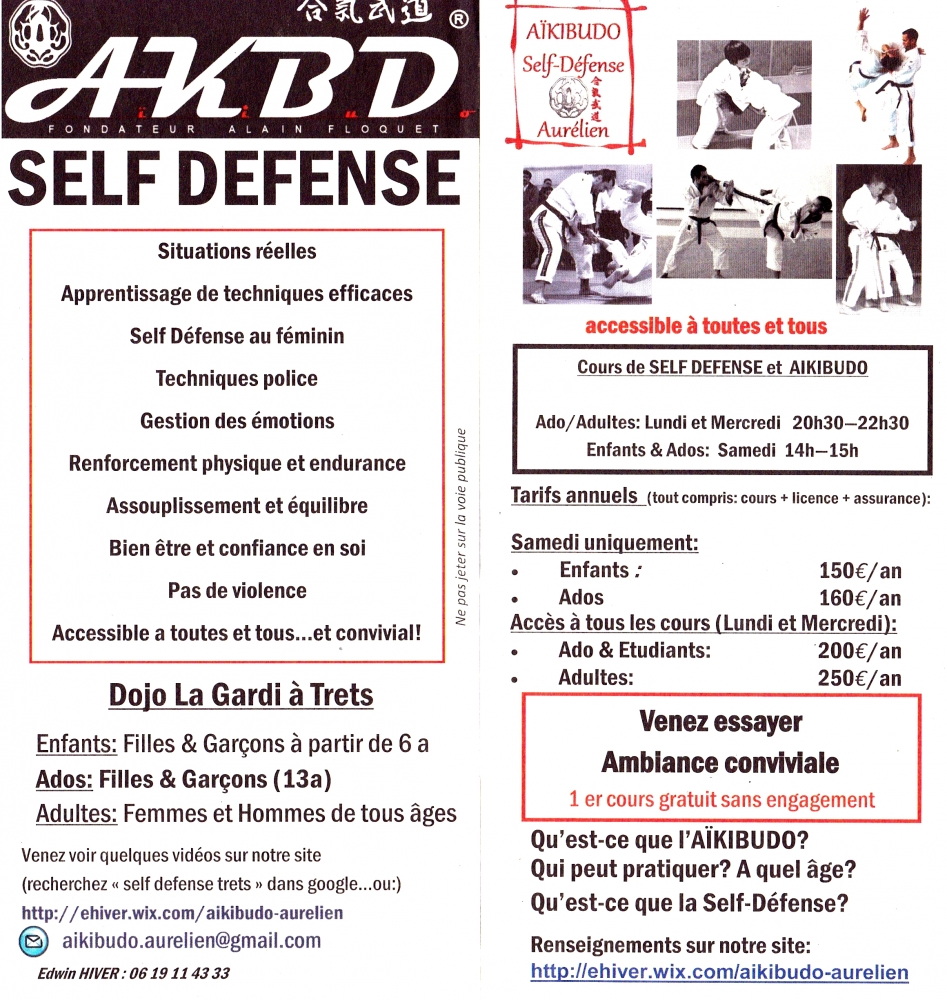 Self Defense Ados (1 cours hebdomadaire)