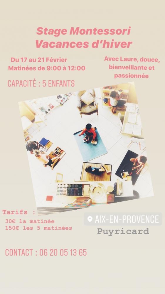 Stage Montessori Vacances d'Hiver