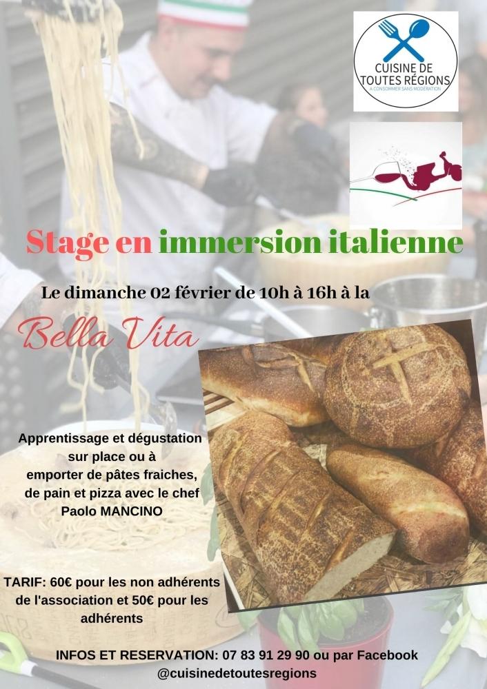 Stage en immersion italienne