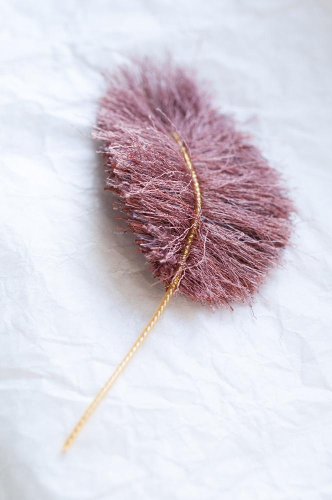 Plume pour cheveux : Roselin flamboyant