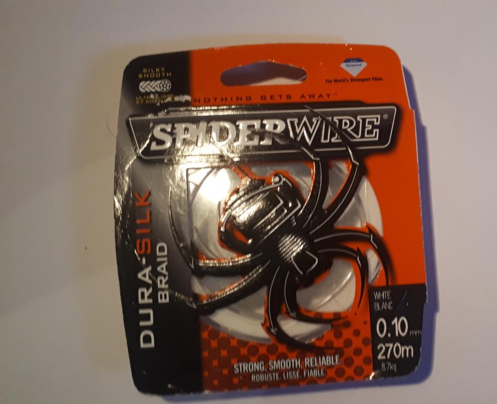 Tresse Spiderwire Dura Silk Green - 270 m- 0.10MM - WHITE