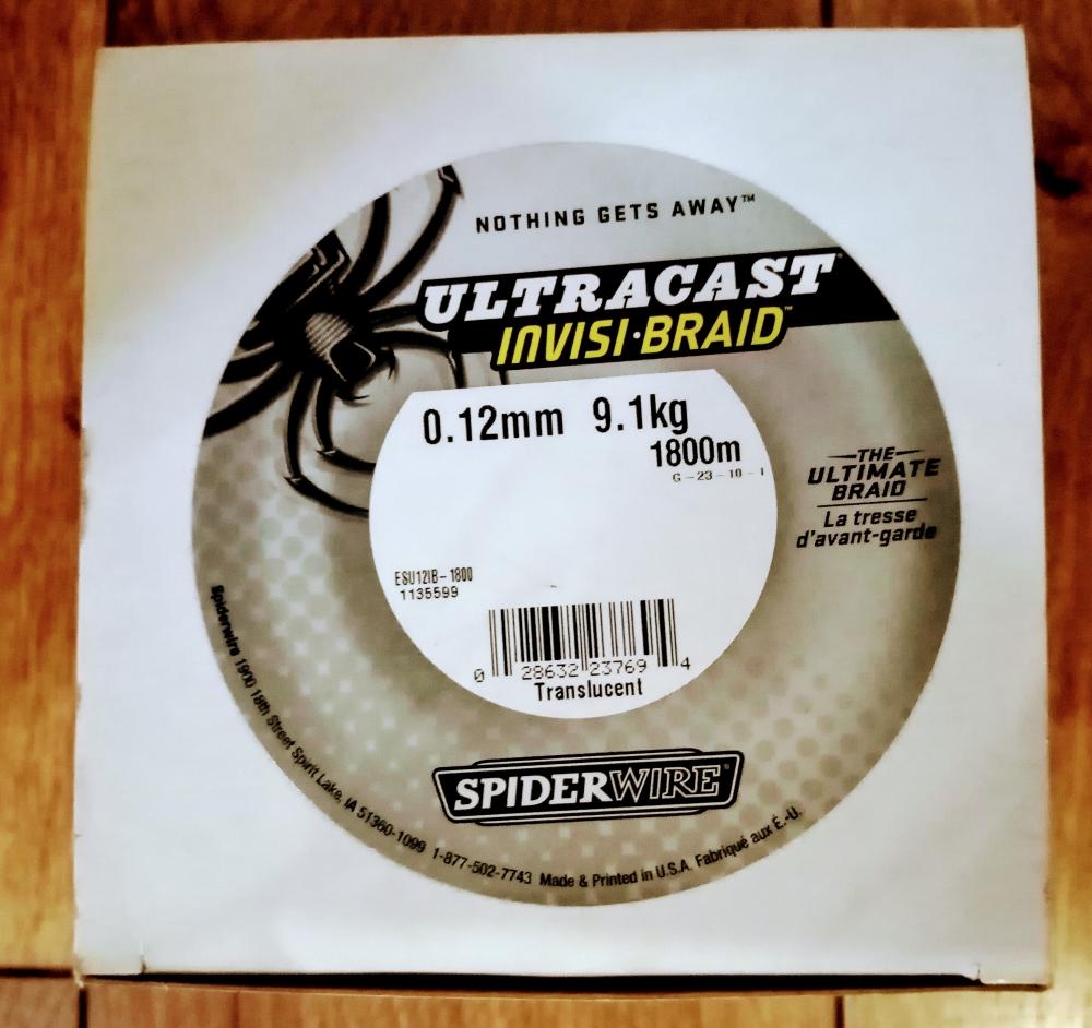 Bobine de 1800m de tresse Spiderwire diamètre 0,12