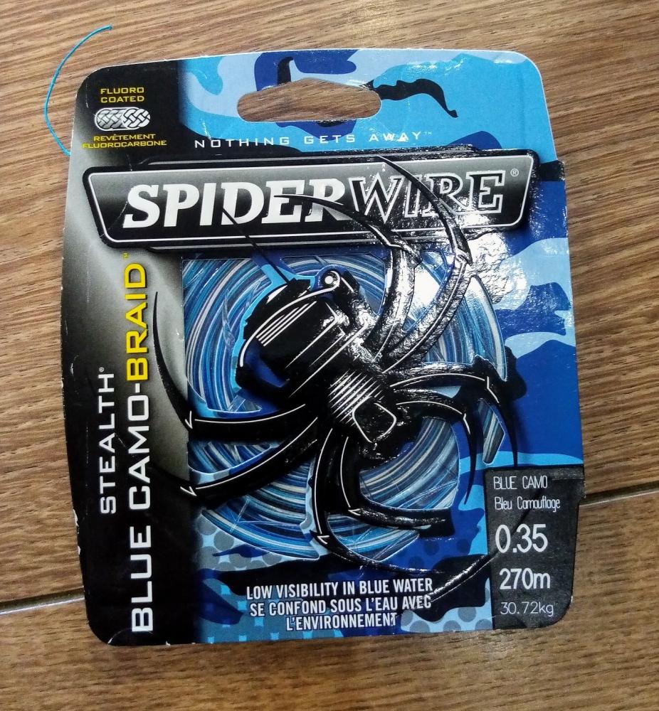 Lot de 3 bobines 270m de Tresse SpiderWire Bleu 0.38