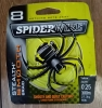Lot de 4 bobines 300m de tresse Spiderwire jaune 0.25