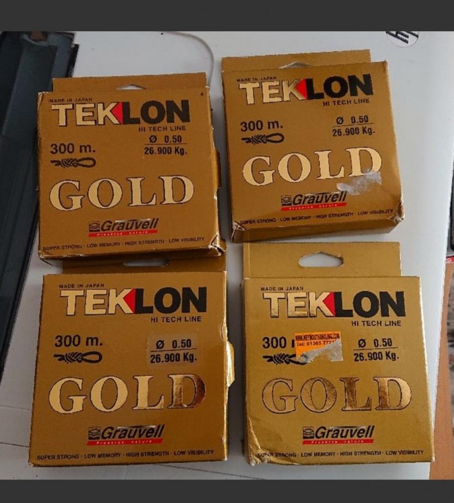 lot de 4 bobines neuf nylon Grauvell Teklon Gold