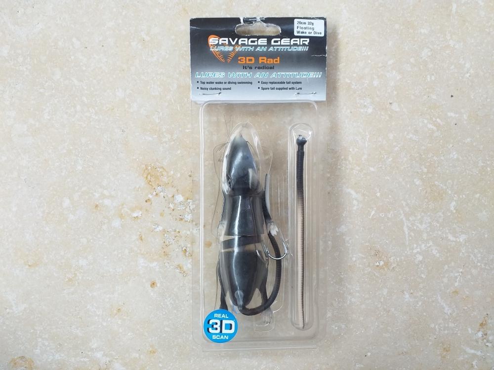 3d rad 20cm 32gr black