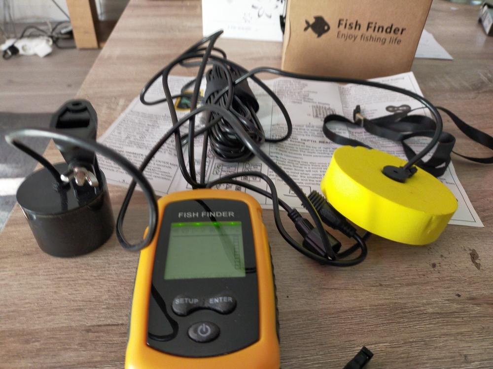 Ecosondeur Pêche Détecteur de Poisson Sans Fil Portable Fish Finder