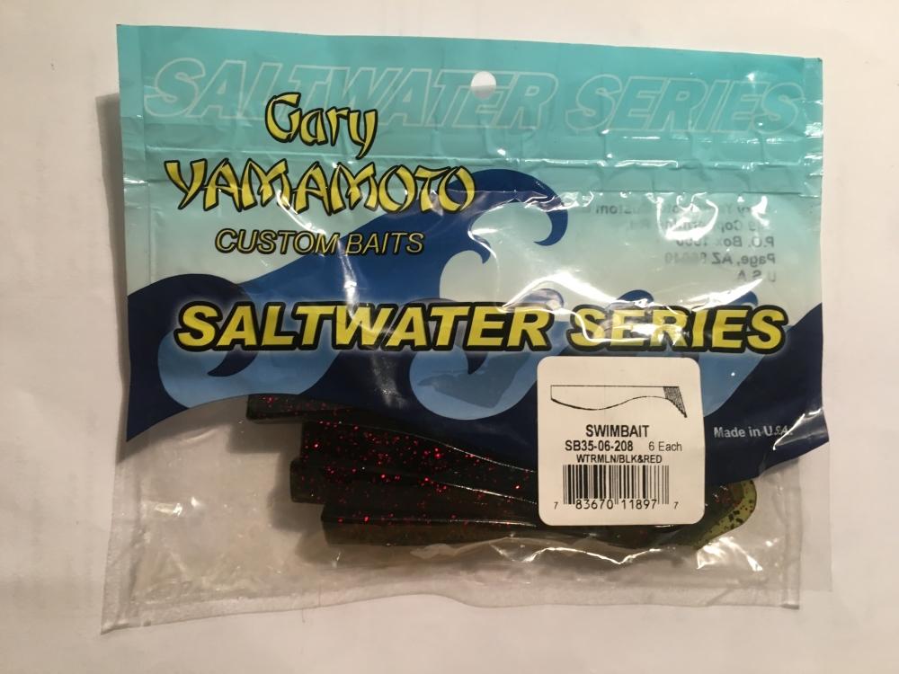 GARY YAMAMOTO SwimbaitWatermelon / black & red