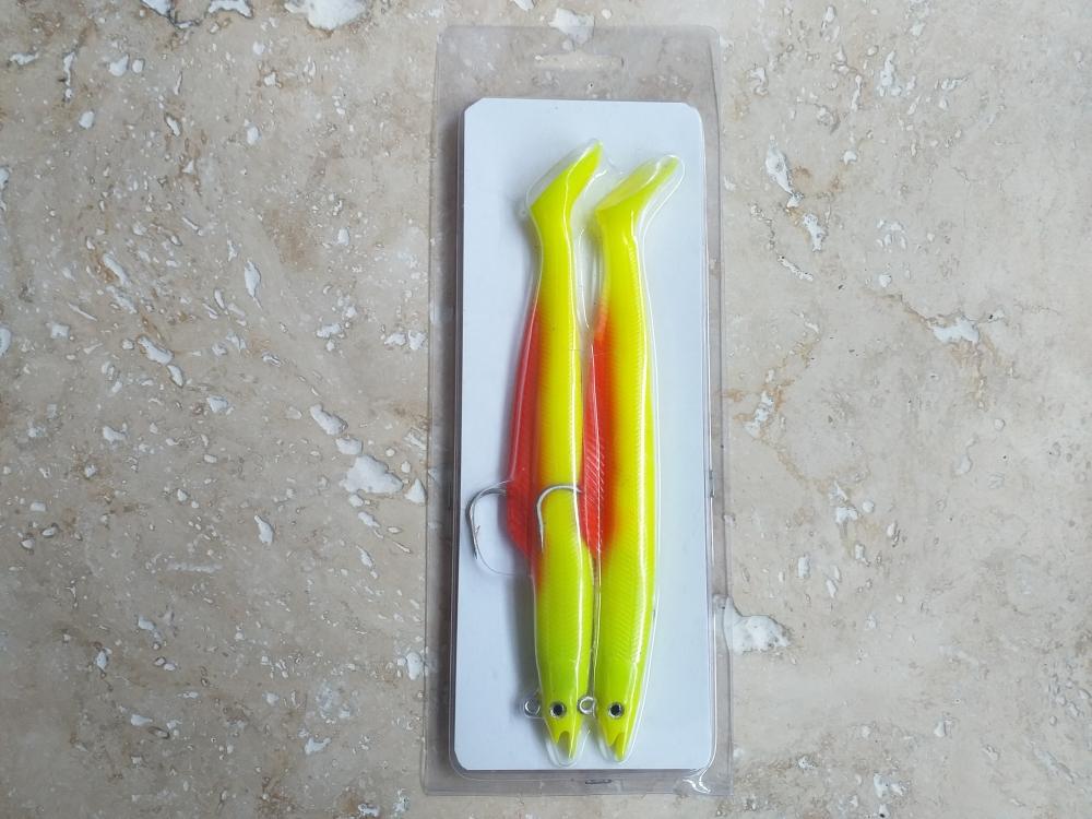 Live target sandeels 20cm 45gr yellow red