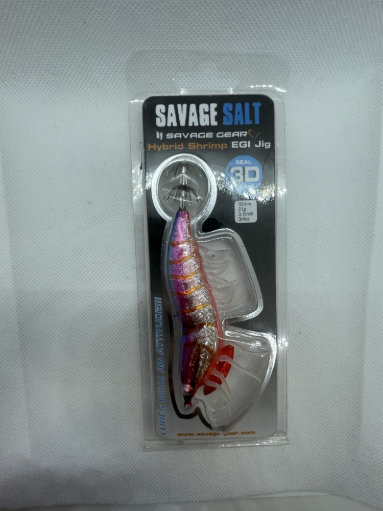 Savage Gear 3D Hybrid Shrimp Egi Jig Couleur Blue back