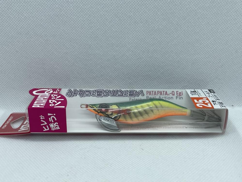 Yo-Zuri - Turlutte Pata Pata-Q 2.5 Dos rayé vert